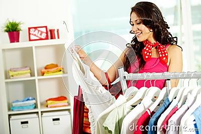 Choosing new dress