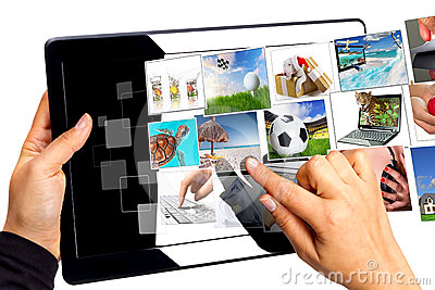 Choosing streaming multimedia on the tablet