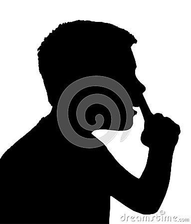 Chłopiec dziecka gest odizolowywający nosa zrywanie