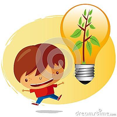 Chłopiec ekologiczna
