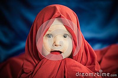 Chłopiec w tkaninie