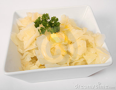 Chopped boiled white cabbage