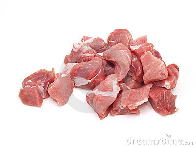 Chopped pork meat