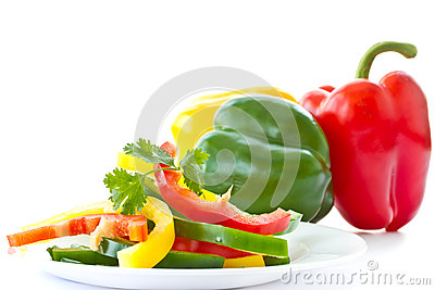 Chopped salad with sweet peppers