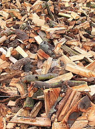 Chopped split logs