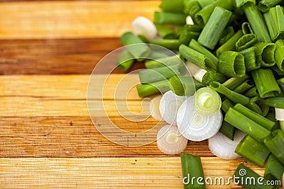 Chopped spring onions