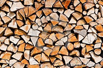 Chopped up wood