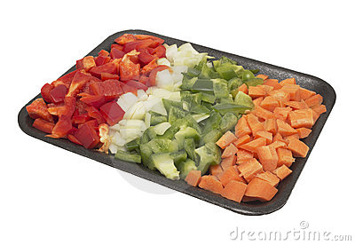Chopped vegetables for cooking