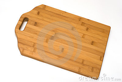 Chopping board from a bamboo