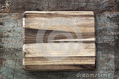 Chopping Board on Rustic Timber