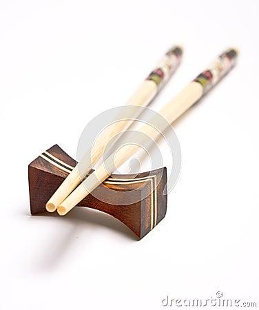 Chopsticks on a chopstick rest