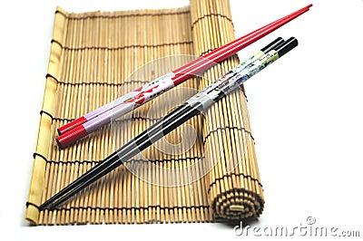 Chopsticks on placemat