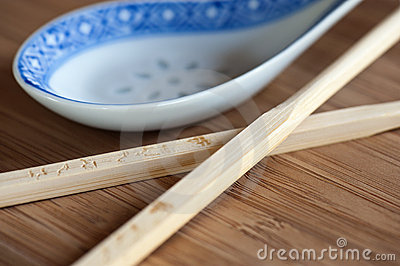 Chopsticks and Spoon