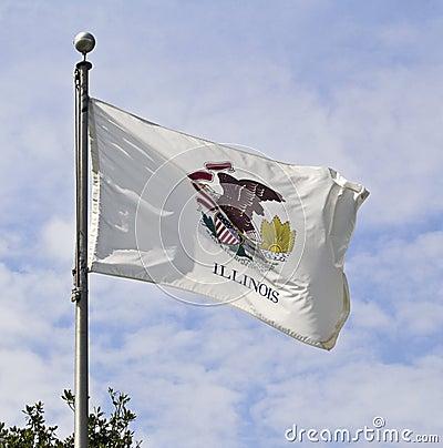 Chorągwiany Illinois stan