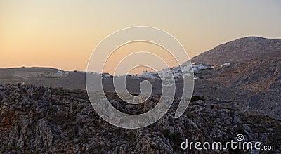 Chora village at sunset