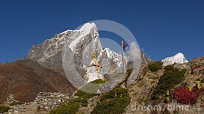 Chorten in the Himalayas