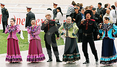 Chorus cossacks. Editorial Stock Image