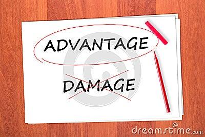 Chose the word ADVANTAGE