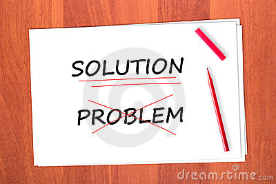 Chose the word SOLUTION