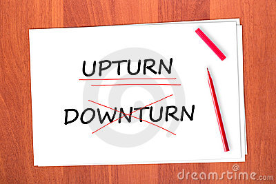 Chose the word UPTURN