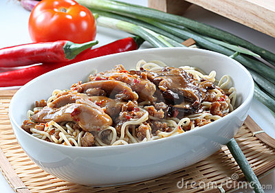 Chow Mein With Vegetables Royalty Free Stock Images - Image: 11162819