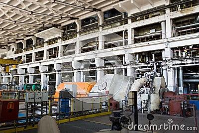 CHP station - engine room