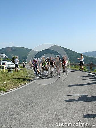 Chèques postaux Italie de 2009 cyclistes d Image éditorial