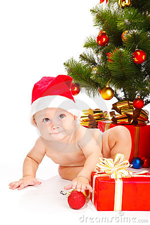 Chéri dans le chapeau de Noël