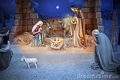 Chéri Jésus de nativité de Noël