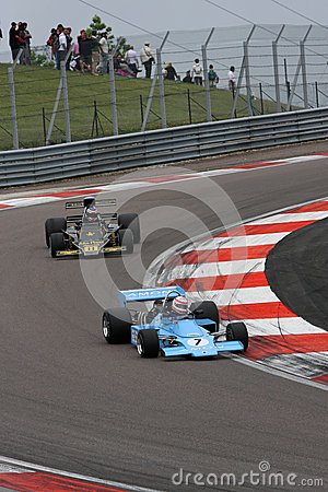 Chris Amon and Ronnie Peterson Formula One cars Editorial Stock Photo