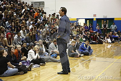 Chris Dudley giving a speech Editorial Photo