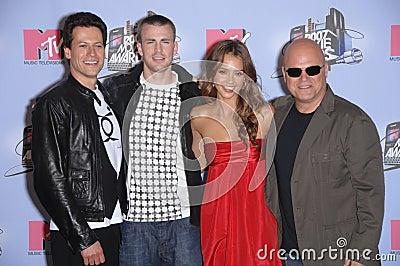 Chris Evans, Ioan Gruffudd, Jessica Alba, Michael Chiklis Editorial Image