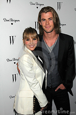 Chris Hemsworth, Elsa Pataky Editorial Stock Photo