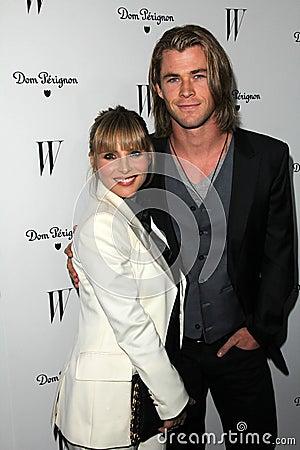 Chris Hemsworth, Elsa Pataky Editorial Stock Photo