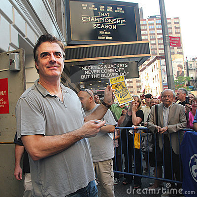 Chris noth on broadway. Editorial Image