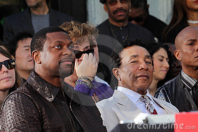Chris Tucker, Michael Jackson, Smokey Robinson Editorial Stock Photo