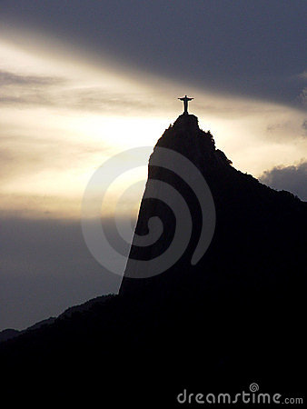 Free Christ And Sunset Stock Image - 390191