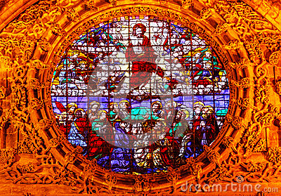 Christ Ascension Stained Glass Seville Cathedral