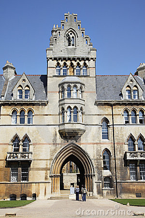Christ Church College in the City of Oxford Editorial Photography