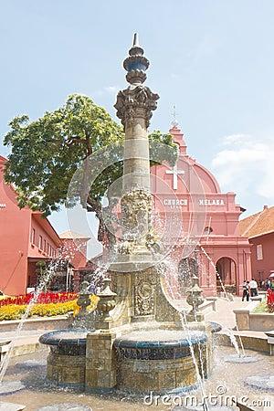 Christ Church Fountain Editorial Stock Image