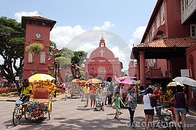 Christ Church Melaka Editorial Photography