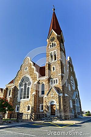 Free Christ Church - Windhoek, Namibia Stock Image - 59653941