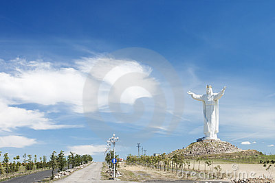 Christ the King Monument in Swiebodzin-Poland.