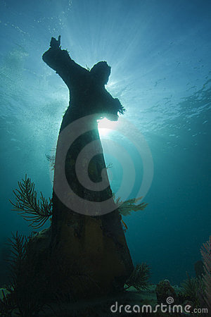 Free Christ Of The Deep - Underwater Sculpture Royalty Free Stock Photo - 22138475
