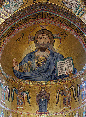 The Christ Pantokrator. Cathedral of Cefalu