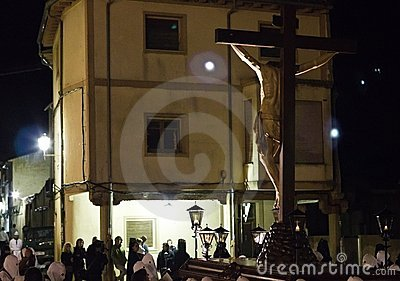 Christ procession at night Editorial Photography