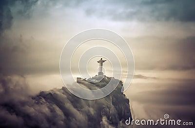 Christ the Redeemer in clouds,  Rio de Janeiro
