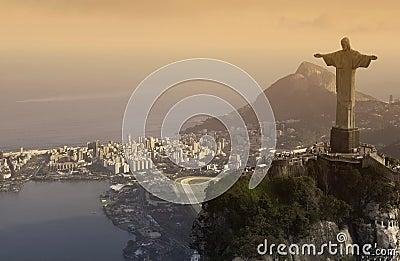 Christ the Redeemer - Rio de Janeiro - Brazil Editorial Photography