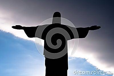 Christ the Redeemer Silhouette, Corcovado, Rio de Janeiro