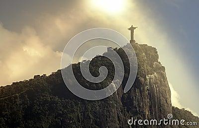 Christ the Redeemer in the sun,  Rio de Janeiro